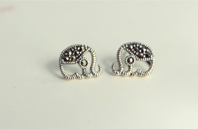 plated earrings stud rose with charmed by big sterling jewellery lily message dream gold elephant earringsgold silver