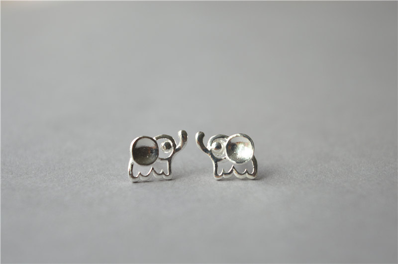 stud hugerect multiple color earring product elephant cute rhinestones